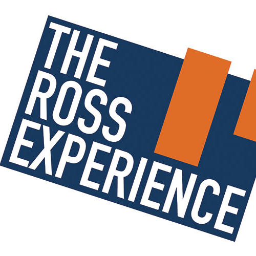 "Graphic text of ""The Ross Experience"""