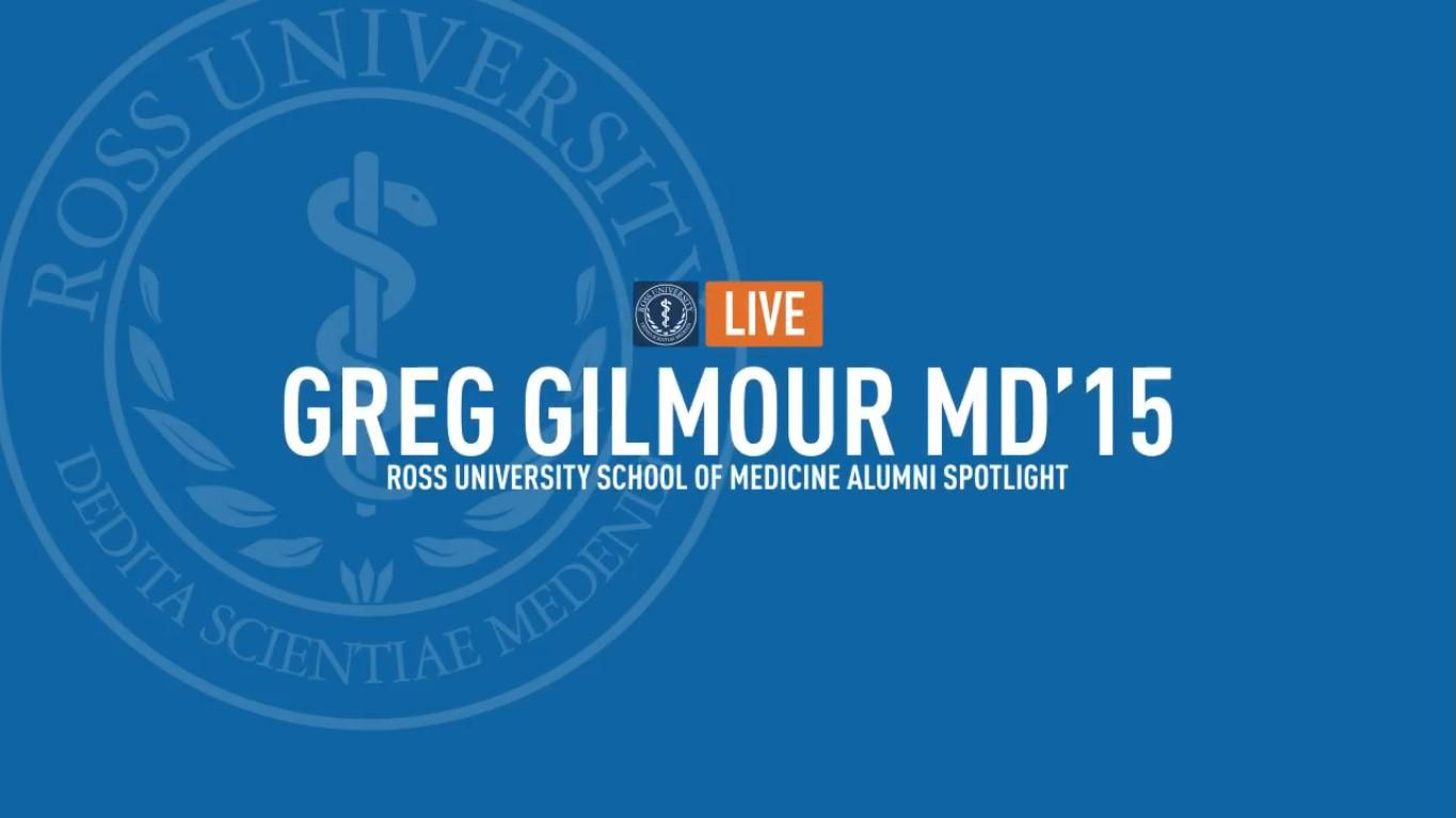 Facebook Live with Greg Gilmour MD'15 - PM&R