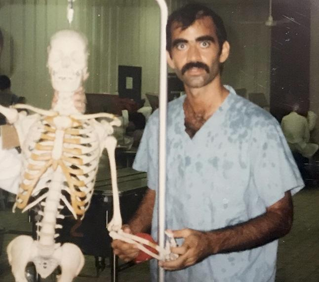 Faculty with human skeleton model