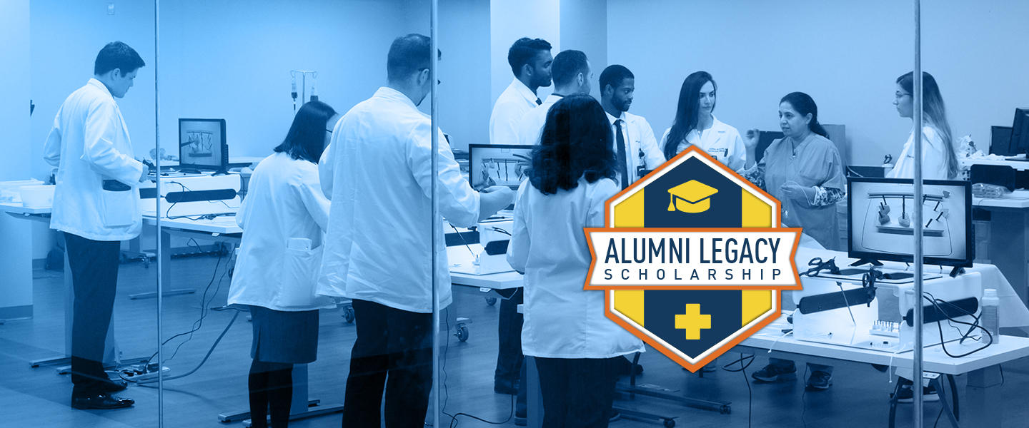 "Graphic text of ""Alumni legacy scholarship"""