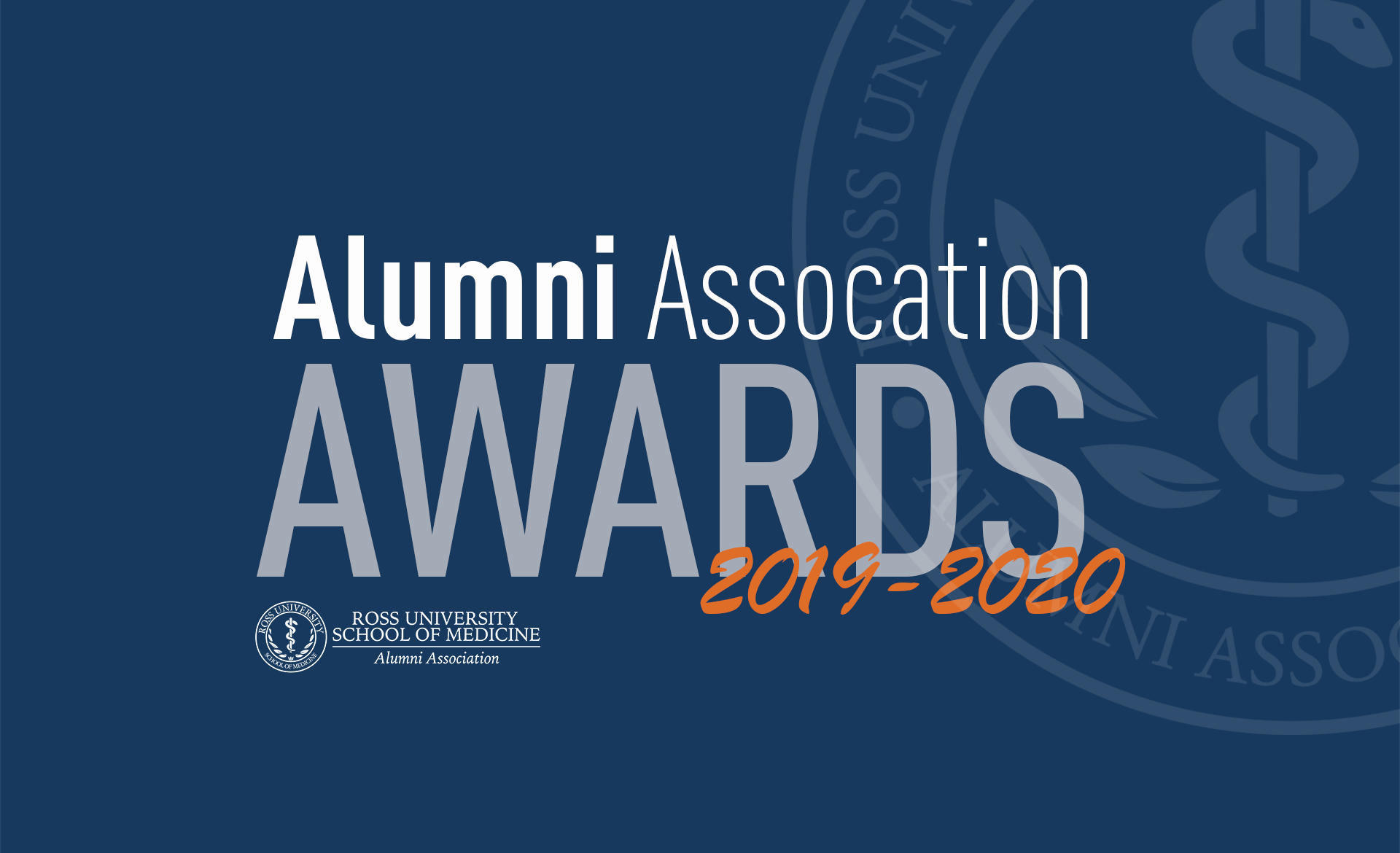 Alumni Association Awards Header 2020