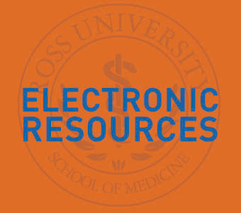 "Graphic text of ""Electronic Resources"""