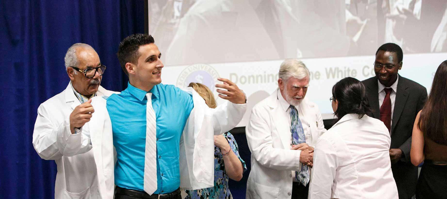 Ross University School of Medicine white coat ceremony