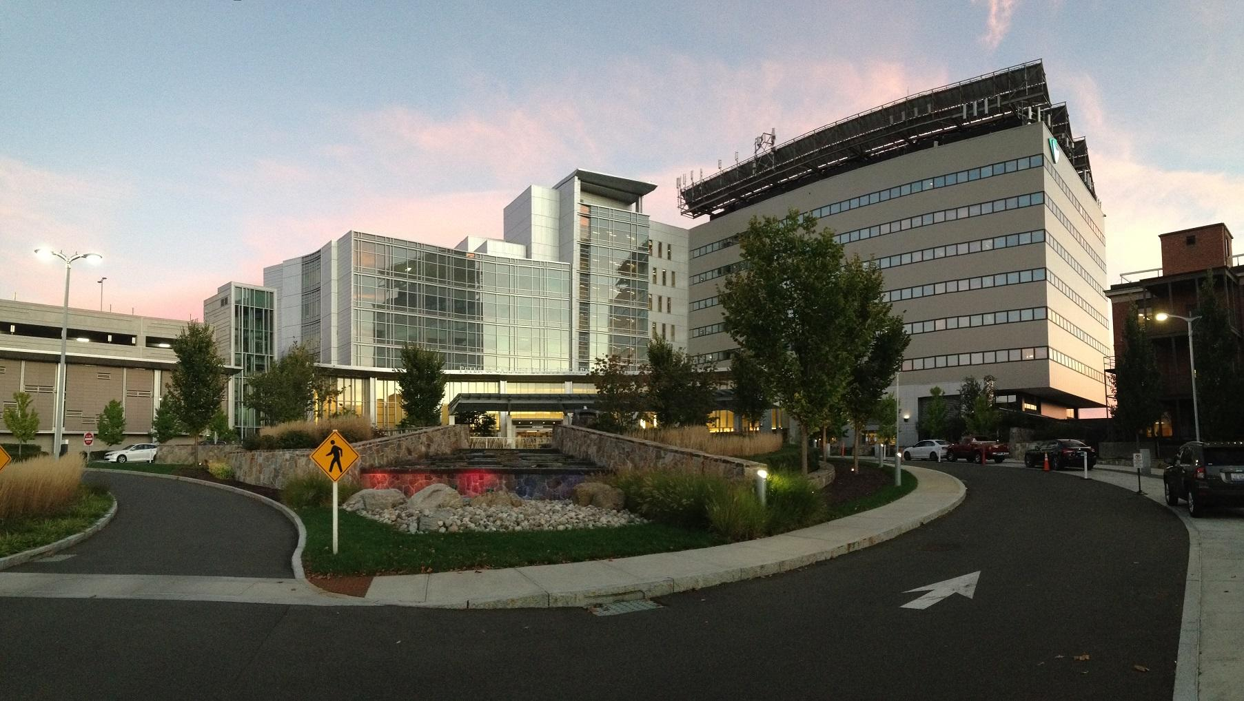 Outside view of Danbury Hospital