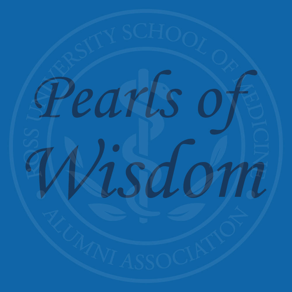 "Graphic text of ""Pearls of Wisdom"""