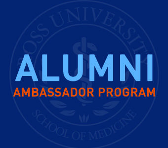 "Graphic text of ""Alumni Ambassador Program"""