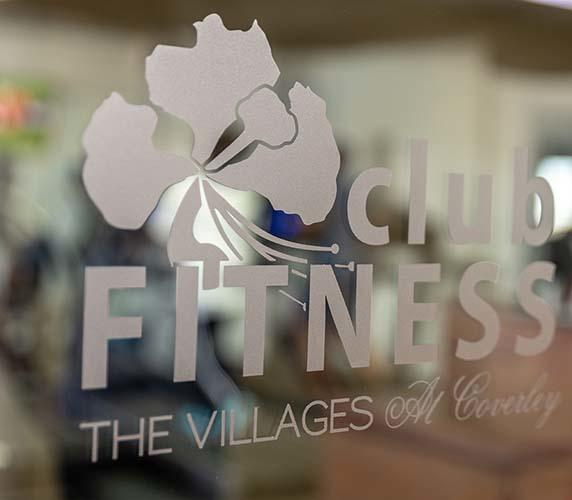 "Graphic text of ""Club Fitness- The Villages"""