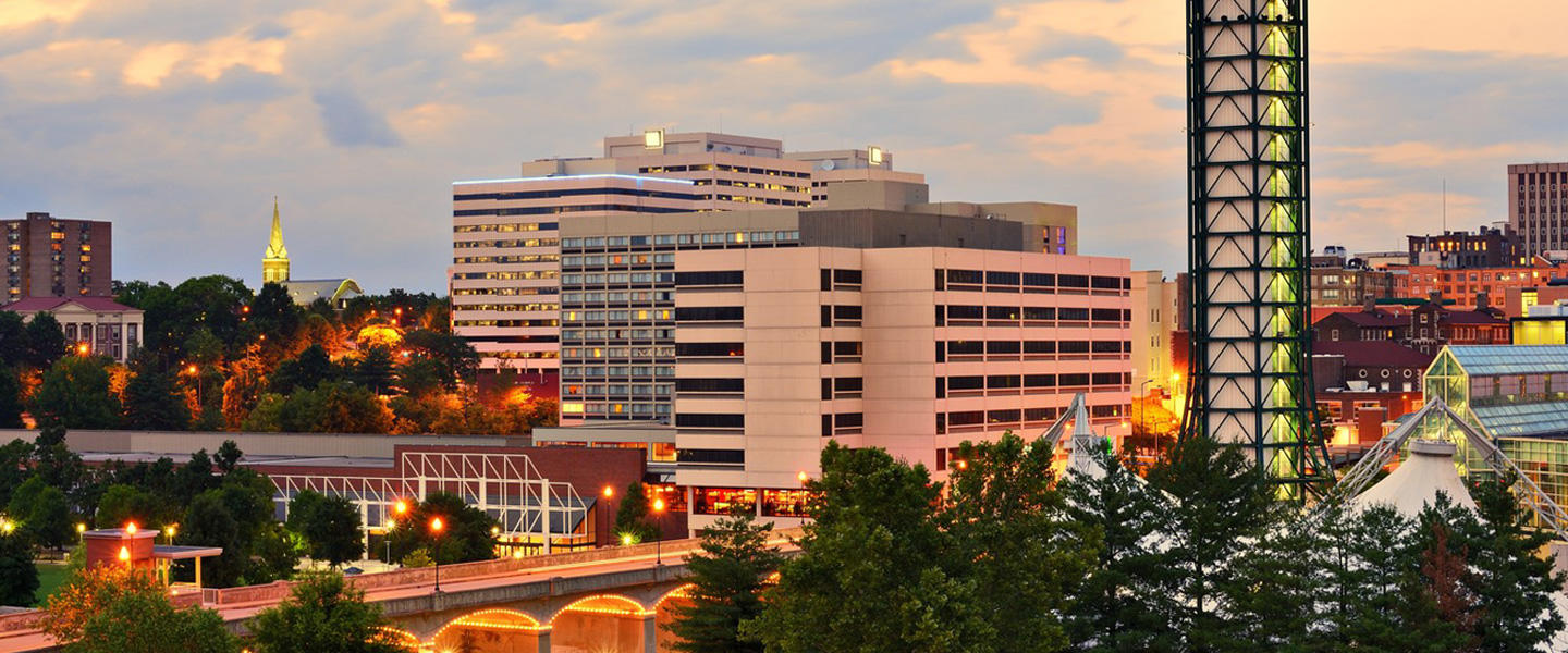 View of building in downtown Knoxville, Tennessee