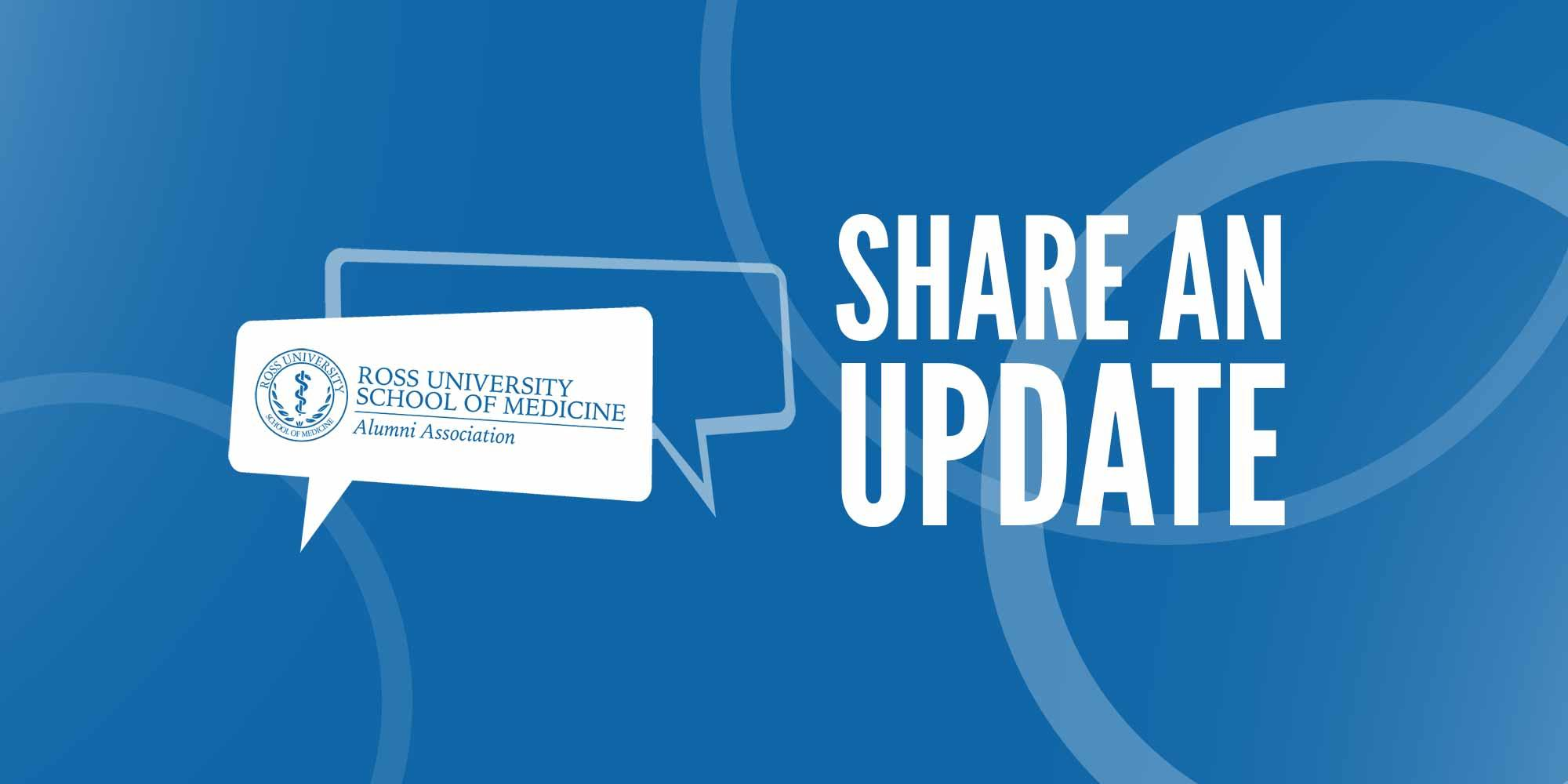 "Graphic text of ""Share an Update"""