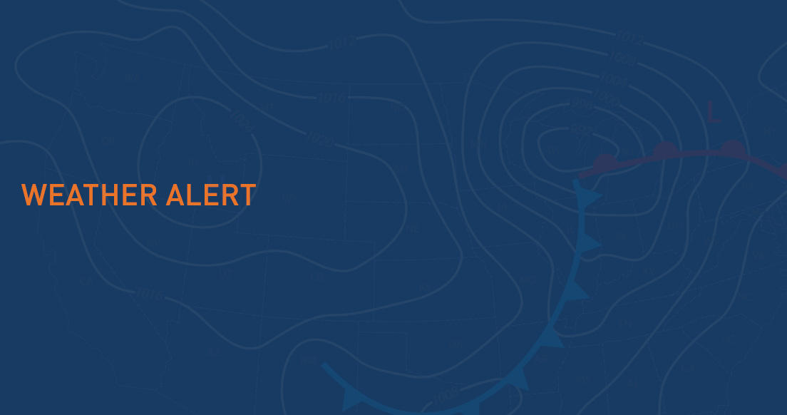 "Graphic text of ""Weather Alert"""
